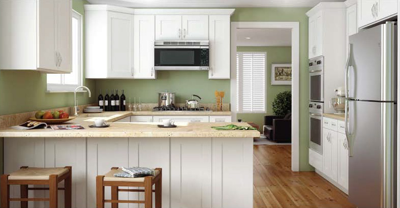 Alabaster Shaker Kitchen Cabinets