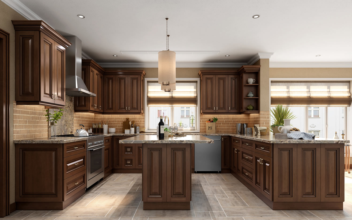 Ambrose Raised Panel Kitchen Cabinets