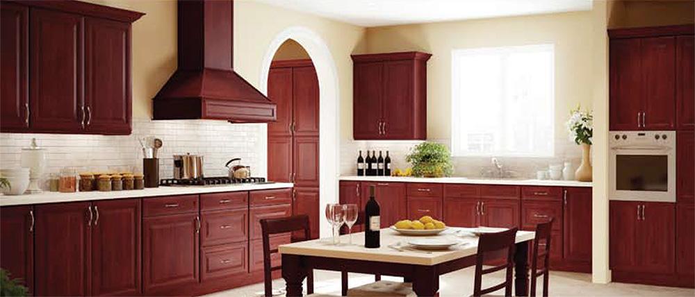 Cherry Merlot Kitchen Cabinets