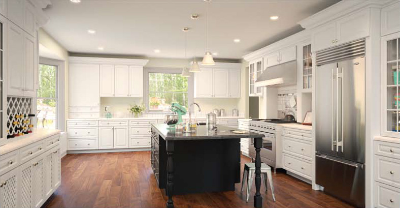 Gardenia Raised Panel Kitchen Cabinets