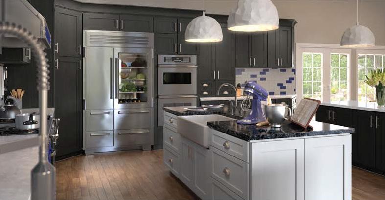 Slate Grey Shaker Kitchen Cabinets