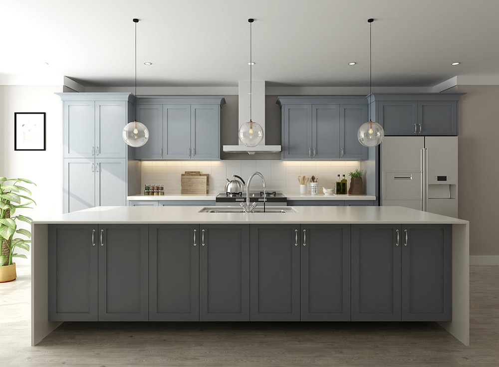 Storm Grey Kitchen Cabinets